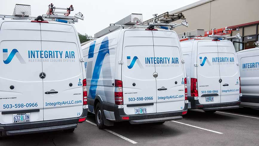 HVAC vans ready to go | Portland